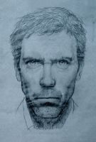 Hugh Laurie pencil sketch by raskayu77