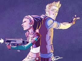 August and Sasha by AnArtistCalledRed