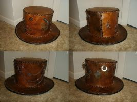 Steampunk Leather Hat by JN-Leather