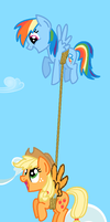 Best Friends Flying Together by nibblesgerbil