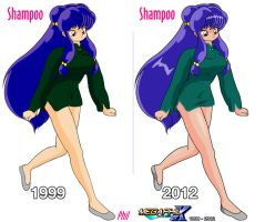 Shampoo Green Shirt (Old VS New) by MegaPhilX