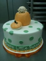 Pumpkin Baby Shower Cake by Spudnuts