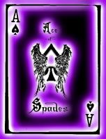 Ace of Spades in Purple by caeli