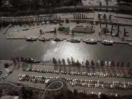 Cars and boats in Tampere by Pajunen