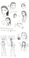 Character Sketches: Molly Tony n Freeman by doodleavc14
