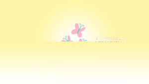 Fluttershy Minimalistic Wallpaper by BlueDragonHans