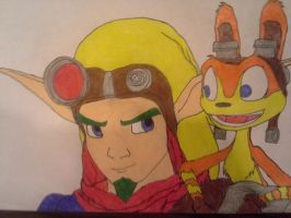 Jak and Daxter by dcb2art