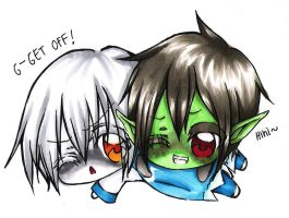 gift: Kossmoe Helmy and Destry by angelz-devil