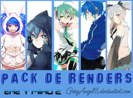Pack de Renders - Ene y Miku 2 by GrayAngel15
