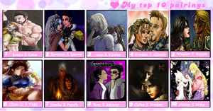 Video Game Top 10 Awesomenest Couples Meme! by Shadow-Force-Silver