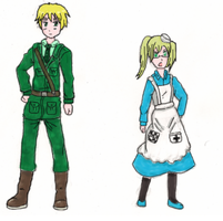 Hetalia: England and Fem!England Coloured by TearJercker
