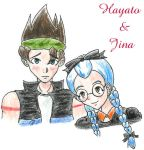 Harvest Moon- Hayato and Jina by nieregreenleaf