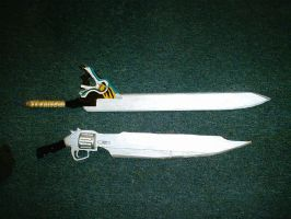 Final fantasy VIII and X sword by Phibius