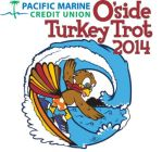 O'side Turkey Trot 2014 T-Shirt Design Winner by Color-Gal