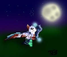 :MY BEST DRAWING EVER!: The misty moon by hroman21