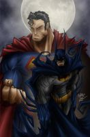 Superman and Batman by dmvcomics