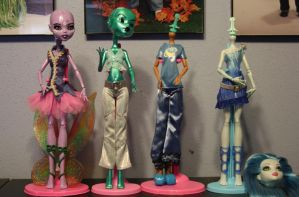 WIP Monster high custom dolls by rainbow1977