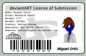 My License of Submission by HackalotSpark
