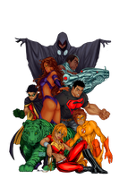 Teen Titans Colored by Xite91