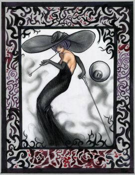 Shadow Witch and the Eyeball [Framed version] by SquirrelHsieh