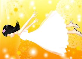 MMD White Dress Rui *DL* by Ginger-Hill