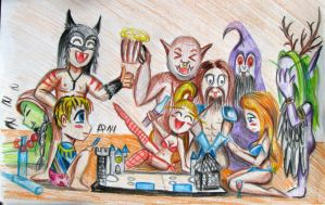 Drunk heroes of warcraft playing hearthstone by Nastea-AnyMash