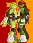 TMNT Mikey and Raph by Deathrosesouls