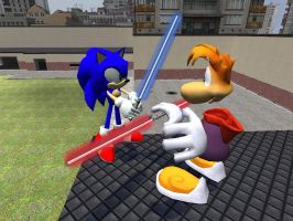 Sonic and Rayman Starwars by Garrys-Mod-Dude