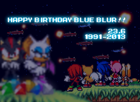 HAPPY B-DAY SONIC THE HEDGEHOG :3 by Bar-Kun