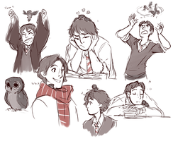 Nod and his owl by TheFandomWhore