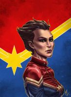 Carol Danvers,Captain Marvel by 0mi