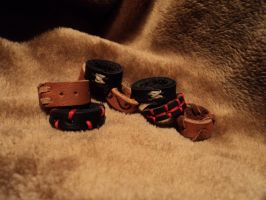 Leather rings - whole new batch by LeTrefle