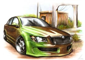 Skoda Superb - Brown-Brown by Medvezh