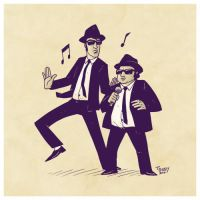 Sketch 05 - Blues Brothers by ThiagoBuzzy