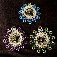Kuchi Broochie Pendants by chainmaille