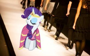 Rarity on the Runway by dontae98