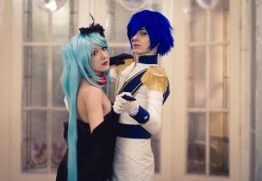 Kaito and Miku II - Vocaloid Cendrillon by Feeracie