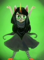 What I think Jades Trollsona would be by aruva-chan