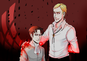 SNK Blood on his hands by MaryIL