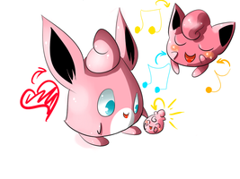 Wigglytuff family by Chaomaster1