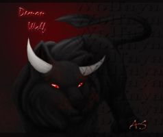 demon wolf by Wolfaya