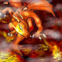 Fire dragon by Moonseed