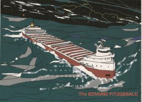 ILL FATED EDMUND FITZGERALD by ElvisDean38