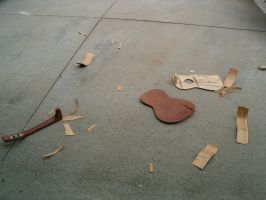 Our Smashed Guitar by symbiotsyndacit