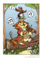 cat musician 3rd panel closeup by katiecandraw