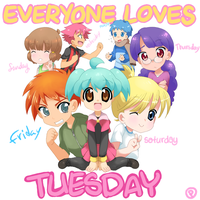 EVERYONE LOVES TUESDAY by drill-tail