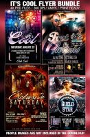 PSD Cool Flyer Bundle 4in1 by retinathemes