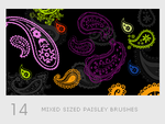 Mixed Sized Paisley Brushes by diebutterfliege