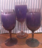 Wine Glass Candles by crochetamommy