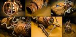 Steampunk Portal Gun - Detail by case15